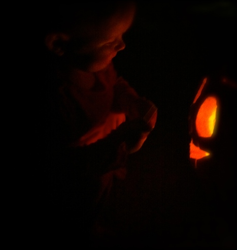 Investigating the lighted pumpkin