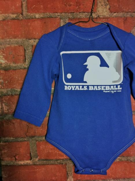 Royals Baseball Upcycled Onesie