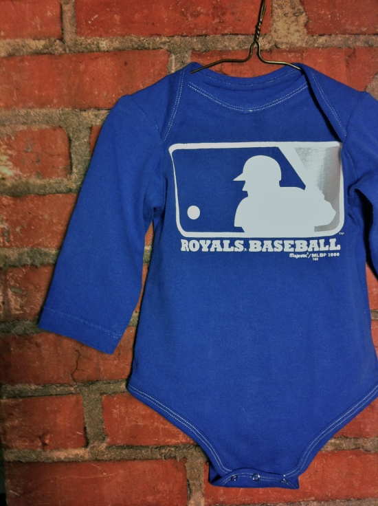 Royals Baseball Upcycled Onesie