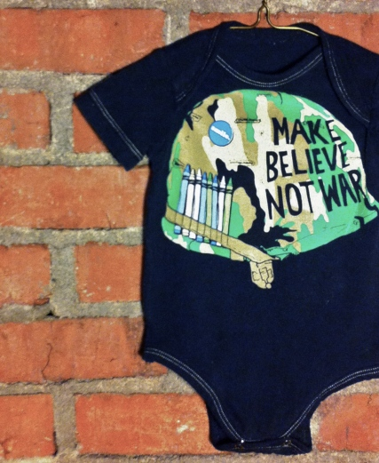 Tumblewee's Make Believe not War onesie